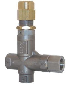Клапан предохранительный VS 26 - Aisi 316 VITON вход 1/2 г, 80 л/мин 310 бар нерж. сталь - фото 13169