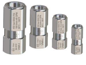Обратный клапан VNR-I вход 1/4 г. выход 1/4 г. 25 л/мин 450 бар  нерж. сталь - фото 13376