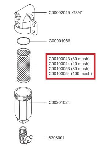 Фильтрующий элемент 40 меш - фото 13598