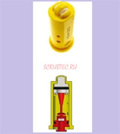 Распылитель Geoline AD-IA/D 110-025.D фиолет. (керам.) с подачей воздуха - фото 14075