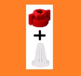 Гайка распылителя универсальная с прокладкой и фильтром (оранж.) - фото 14315