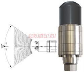 Насадка для мойки поверхностей А42-FR2 с гидроприводом; 30 л/мин; 40-160 бар; .(нерж).вход 1/2г. - фото 16073