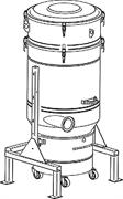 Стационарные пре-сепаратор с фильтром L класса и функцией автоматической очистки шейкером Общая площадь 5 м²., емкость 100 л электрическая панель для контроля чистки фильтра