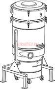 Стационарные пре-сепаратор с фильтром L класса и функцией автоматической очистки шейкером Общая площадь 12 м²., емкость 100 л электрическая панель для контроля чистки фильтра