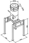 Сепаратор на стойке диаметром Ø 780 мм. на шасси со встроенным фильтром - 4 антистатических картриджа М –класса 26м², с функцией автоматического обратного импульса очистки