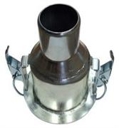 Стальной редуктор соединитель 120/80 Ø мм