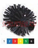 Щетка моющая для труб средней жесткости ø 105х115х14 мм., красный
