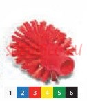 Щетка моющая для труб средней жесткости ø 90х105х130 мм., синий