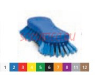 Щетка-скраб ручная - средней жесткости 210х70 мм., синий