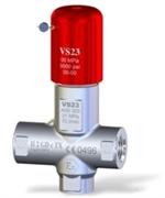 Клапан предохранительный VS 23-280-200° - PED вход 1/2 г. 70 л/мин 280 бар нерж.сталь Aisi 303