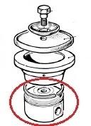 Поршень Ø70 к насосу с уплотнительным кольцом Ø70 в сборе к насосу BP40,60,105,151,205,235,241