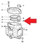 Прокладка прямоугольная насоса BP20/15 - MP(1х2)