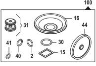 Ремкомплект насоса серии BP 20/15: мембрана NBR (KIT100)