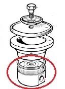 Поршень O75 к насосу  с уплотнительным кольцом O75 в сборе насоса BP125,171,280,281