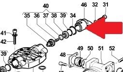 Крышка 2 клапана насоса APS 101/121-145 (1х3)