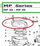 Крышка насоса MP20