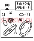 Ремкомплект насоса серии APS 51; 61; 71: мембрана NBR (KIT108)