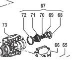 Клапан в сборе насоса BP300 - BPS330HS (1х6)