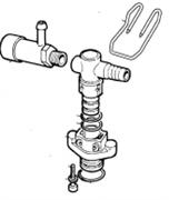 Предохранительный клапан 20 бар 200 л/мин всборе (KIT88) насоса BP151-171