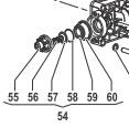 Клапан в сборе насоса BP265/305(1х12) - BP300(1х6)
