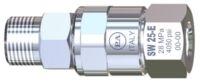 """Поворотное устройство прямое с  подшипником из нерж. стали для консоли (нерж); 3/8""""ш-3/8""""г"""