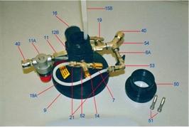 Тройник с клапаном и уплотнительным кольцом (Поз.52)