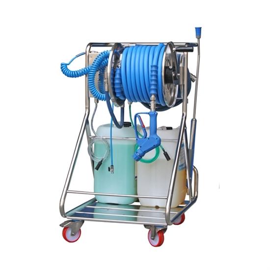 """Моб. установка  с пеногенер. системой """"Foam & Wash"""", 10-100 бар, с подачей воздуха, на 1 ср-во - фото 12803"""