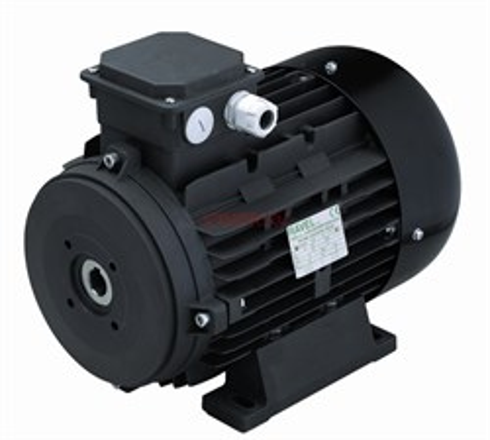 Двигатель 15 кВт H160S полый  вал d 24 мм с напольной установкой - фото 12958