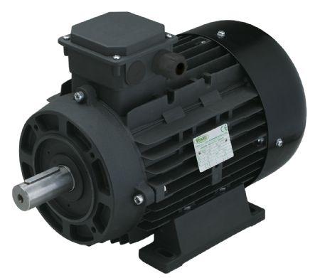 Двигатель 7,5 кВт H132S вал d 24 мм с напольной установкой - фото 13256