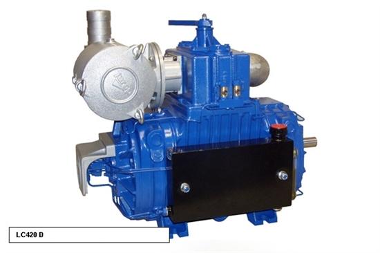 Насос вакуумный JUROP LC 420, 1300 об/мин, правое вращение, пневмоклапан - фото 16588