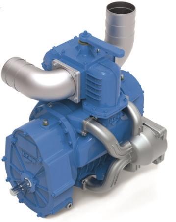 Насос вакуумный JUROP DL 250, 1000 об/мин, левое вращение, ручной клапан, гладкий вал - фото 16592