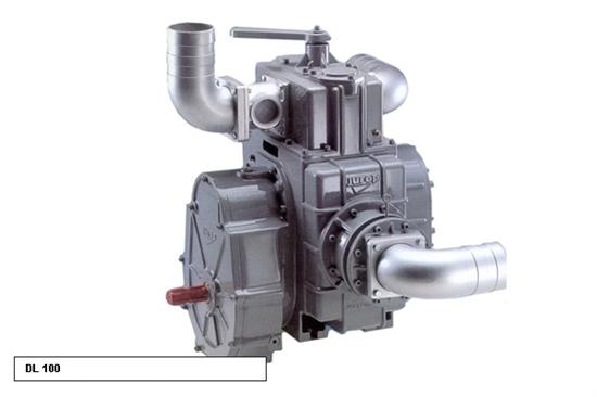 Насос вакуумный JUROP DL 120, 1000 об/мин, правое вращение, ручной клапан, гладкий вал - фото 16750