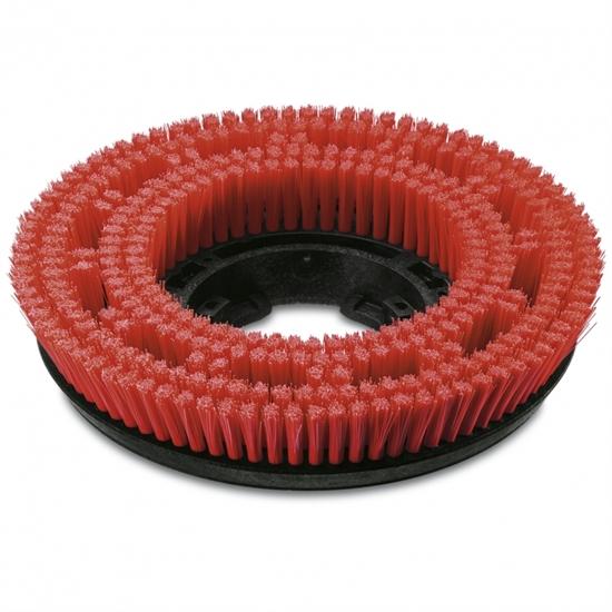 Щетка дисковая, красная, средней жесткости 385 mm - фото 6226