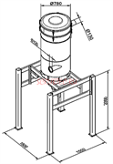 Сепаратор на стойке диаметром O 780 мм. на шасси со встроенным фильтром М класса Общая площадь 12 м?, с функцией автоматической очистки шейкером