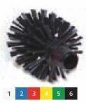 Щетка моющая для труб средней жесткости o 105х115х14 мм., красный