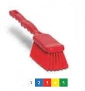 Щётка широкая с длинной ручкой – средней жёсткости 410х55 мм., красный