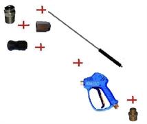 Распылительный пистолет в сборе с форсункой курок RL51 М22х1,5ш  1500мм (нерж).