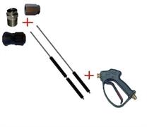 Распылительный пистолет в сборе с форсункой курок RL 26 М22х1,5ш  1500 мм. (Нерж.)