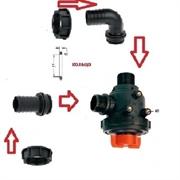 Фильтр всасывающий A314 малый с клапаном 150 л/мин;50 меш;вх.:d=40 mm.(прямой)-вых.:d=40 mm.(90 гр.)