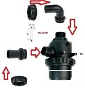 Фильтр всасывающий A314; 150 л/мин, 32 меш вход: d=40 mm.(прямой), выход d=40 mm.(90 гр.)