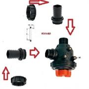 Фильтр всасывающий A314 малый с клапаном 150 л/мин;50 меш;вх.- вых.:d=40 mm.(прямой)