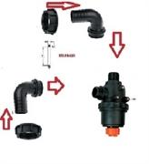 Фильтр всасывающий (серия 317) с клапаном; 260 л/мин, 32 меш: вх.- вых. ёлочка d=40 mm.(90 гр.)