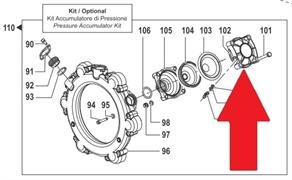 Крышка гидроаккумулятора насоса серии BP 300