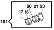 Ремкомплект насоса серии YA65: сальников высокого давления (KIT101)