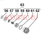Клапан в сборе насоса MC18 (1х4)