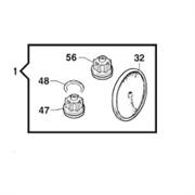 Ремкомплект насоса серии BP241; 251; 281; 291 HS: мембрана NBR (KIT111)