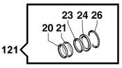 Комплект уплотнений насоса YA 150 (1х12)