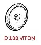 Мембрана насоса O 100 (VITON) насоса APS51/61/71(1х3); APS96/IDS960(1х4)