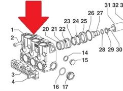 Крышка насоса YA 150 (1х2)