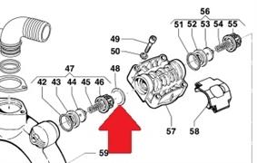 Кольцо 48,5х33,5х2,5 INOX AISI316 насоса BP 115/135/241/281 (1х6)